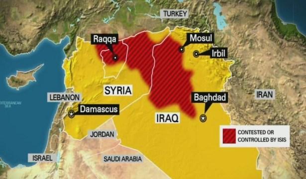 Aquest mapa mostra la implantació actual d'Estat Islàmic a Síria i l'Irac