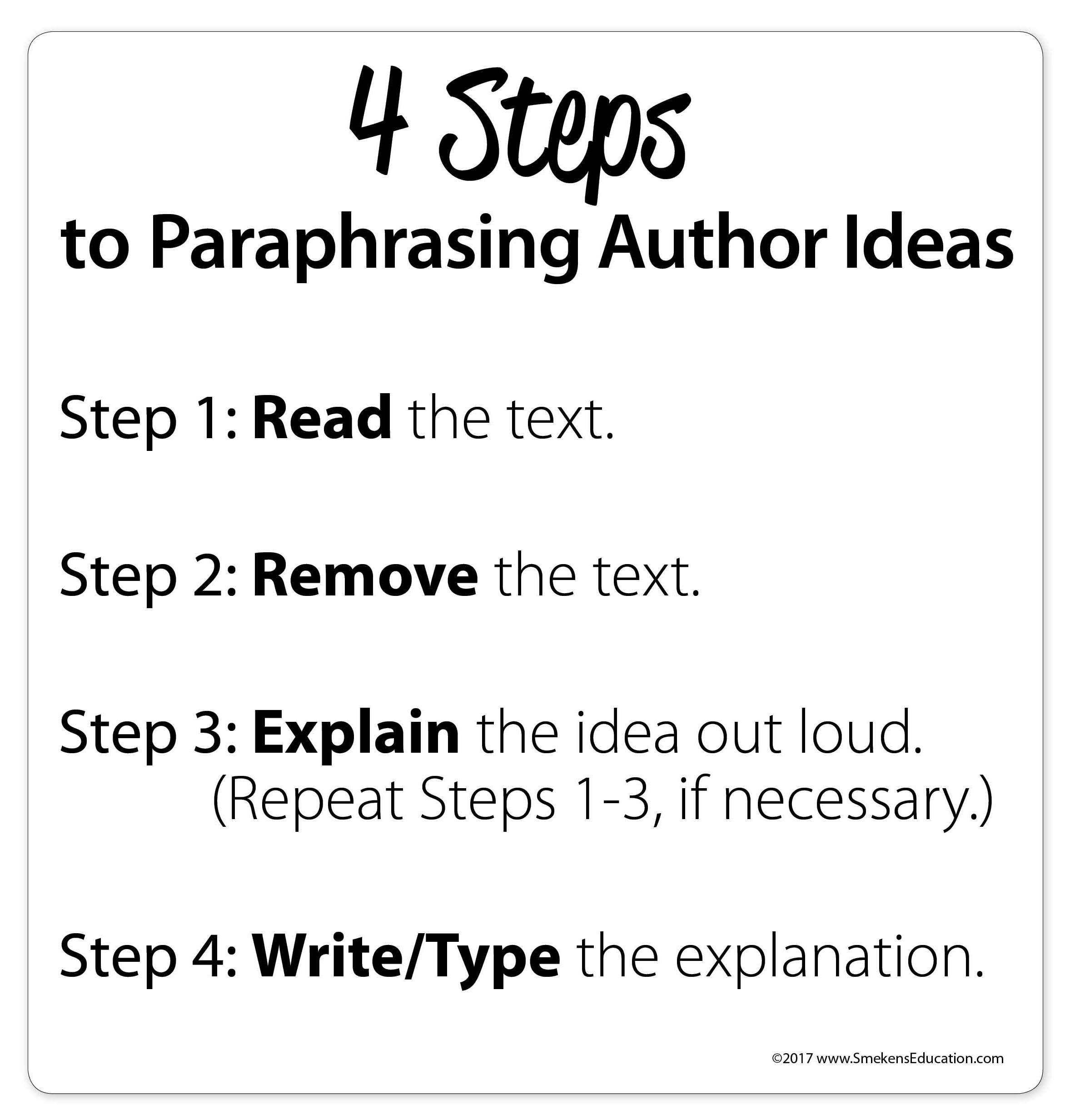 Paraphrase Author Ideas