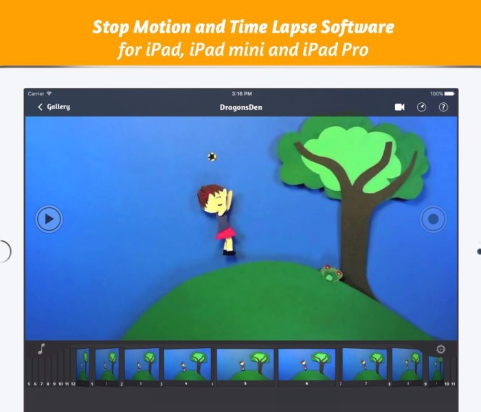 iStopMotion 3 for iPad