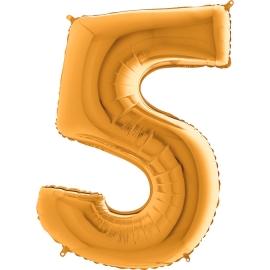 Globo-metalizado-numero-cinco-oro