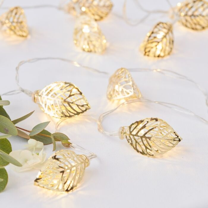hojas oro 3D guirnalda hojas