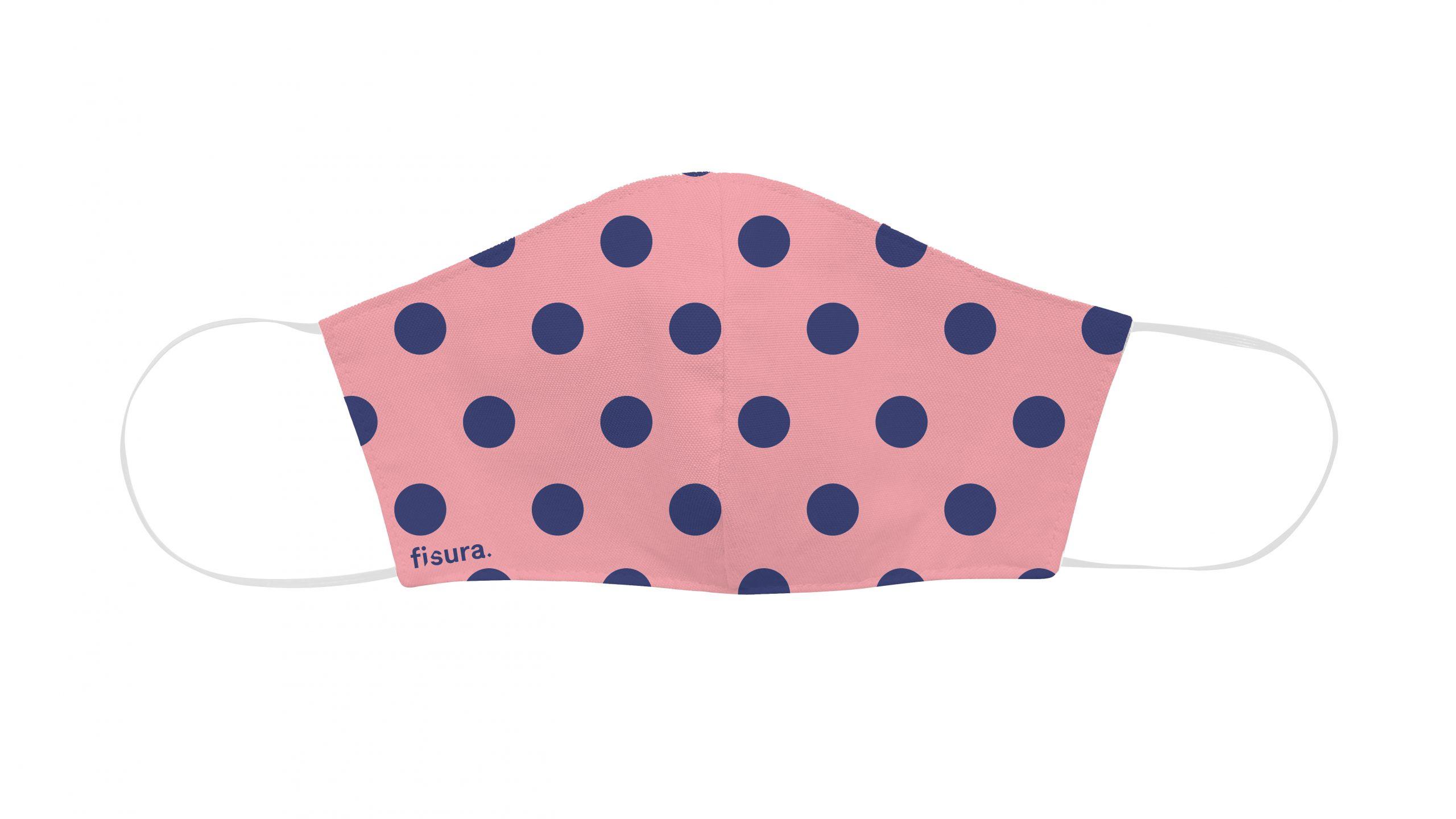 Mascarilla Lunares Pink