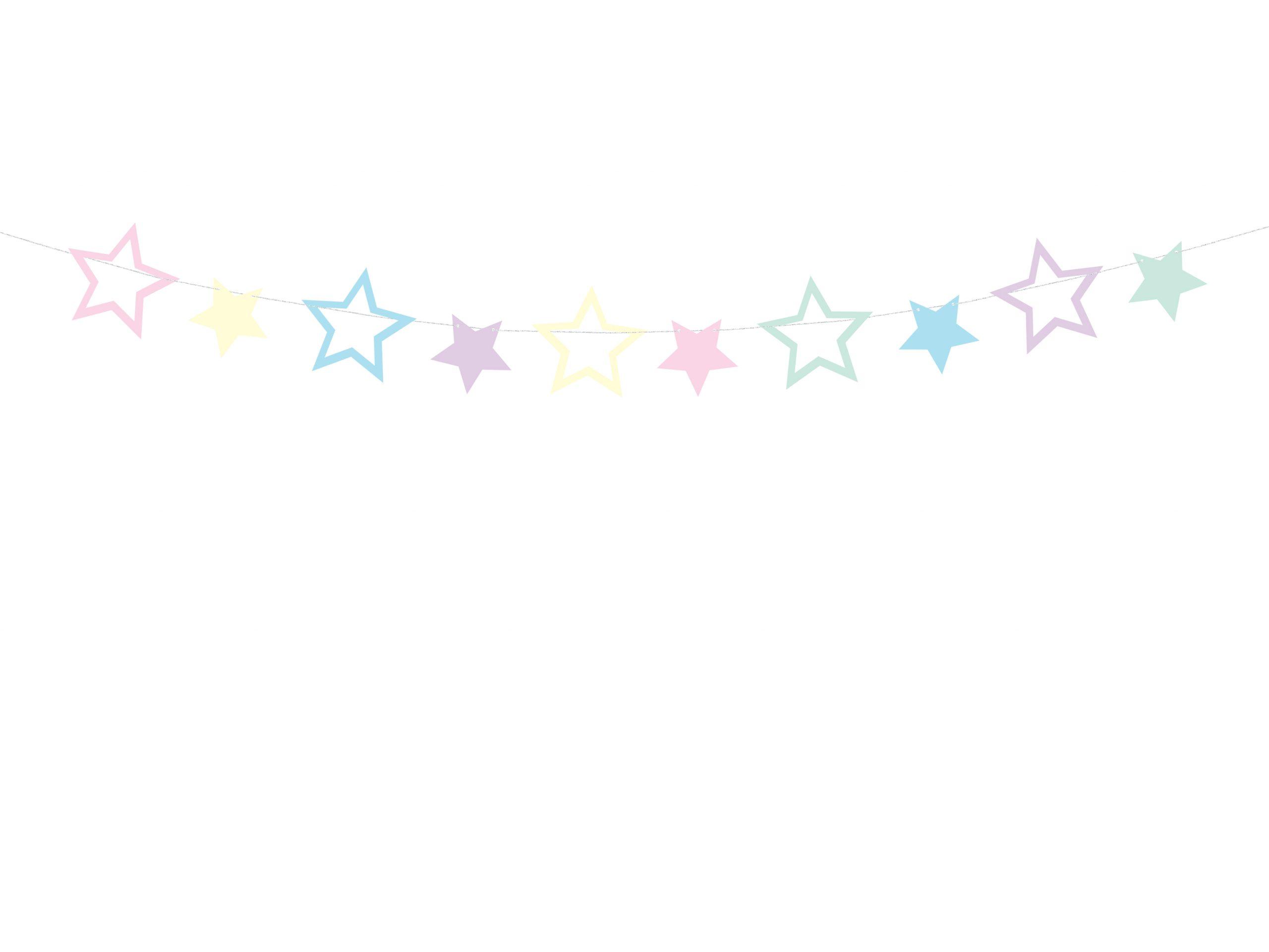 Guirnalda estrella pastel