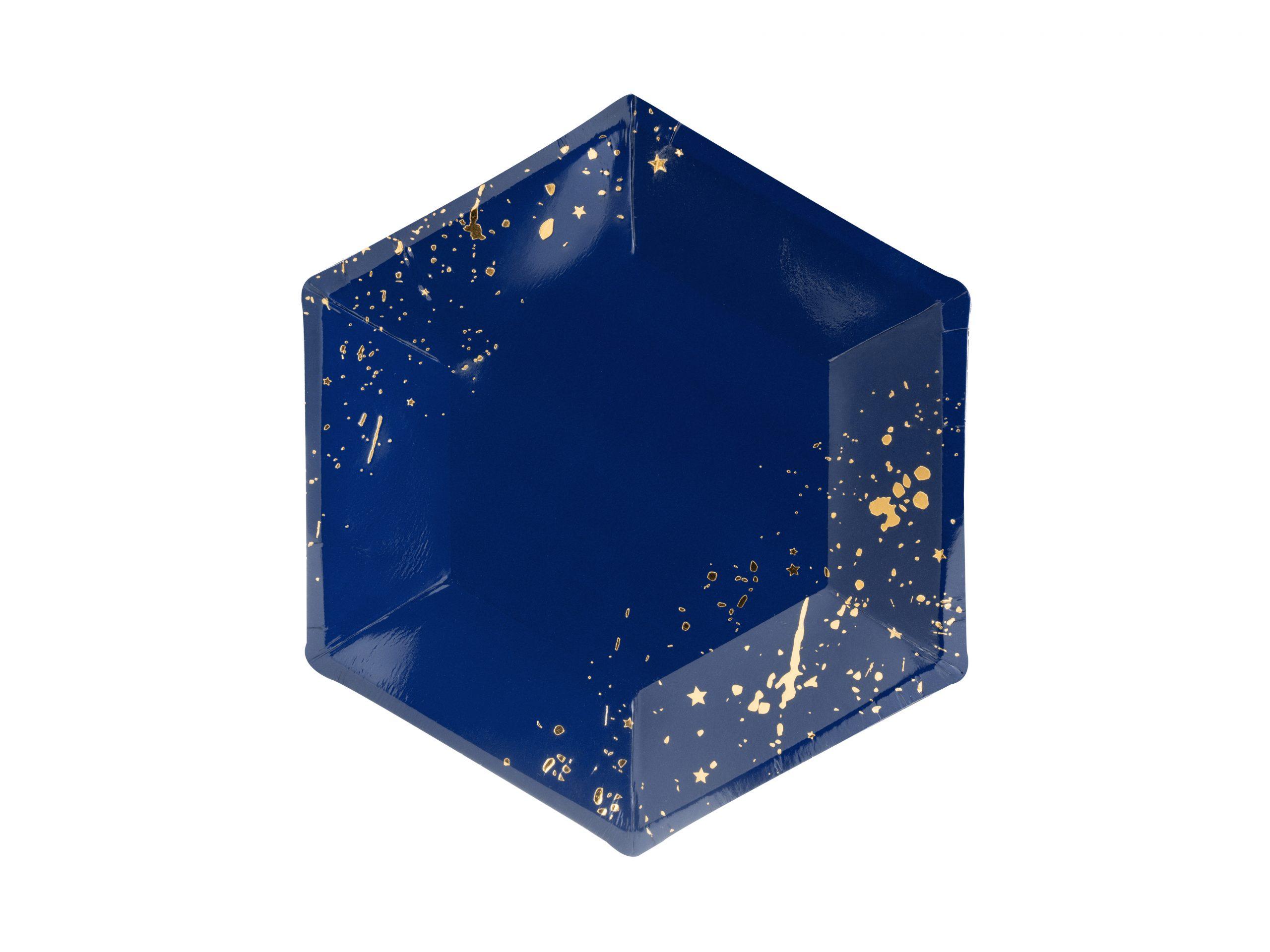 Plato azul y oro
