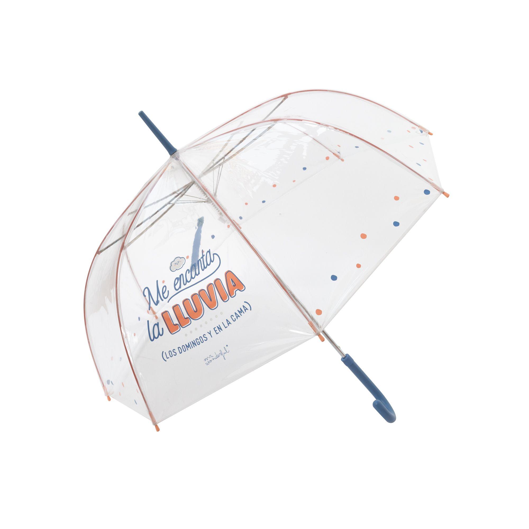 Paraguas-transparente- azul