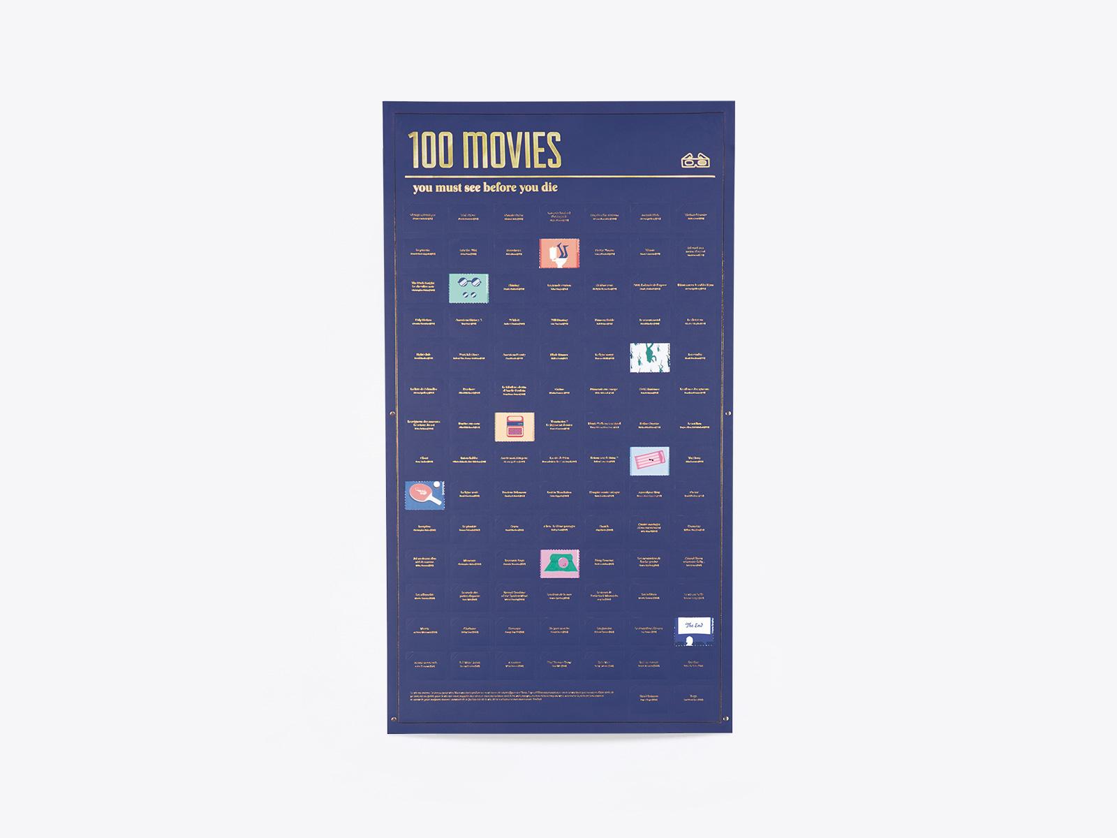 Póster interactivo de 100 películas de DOIY