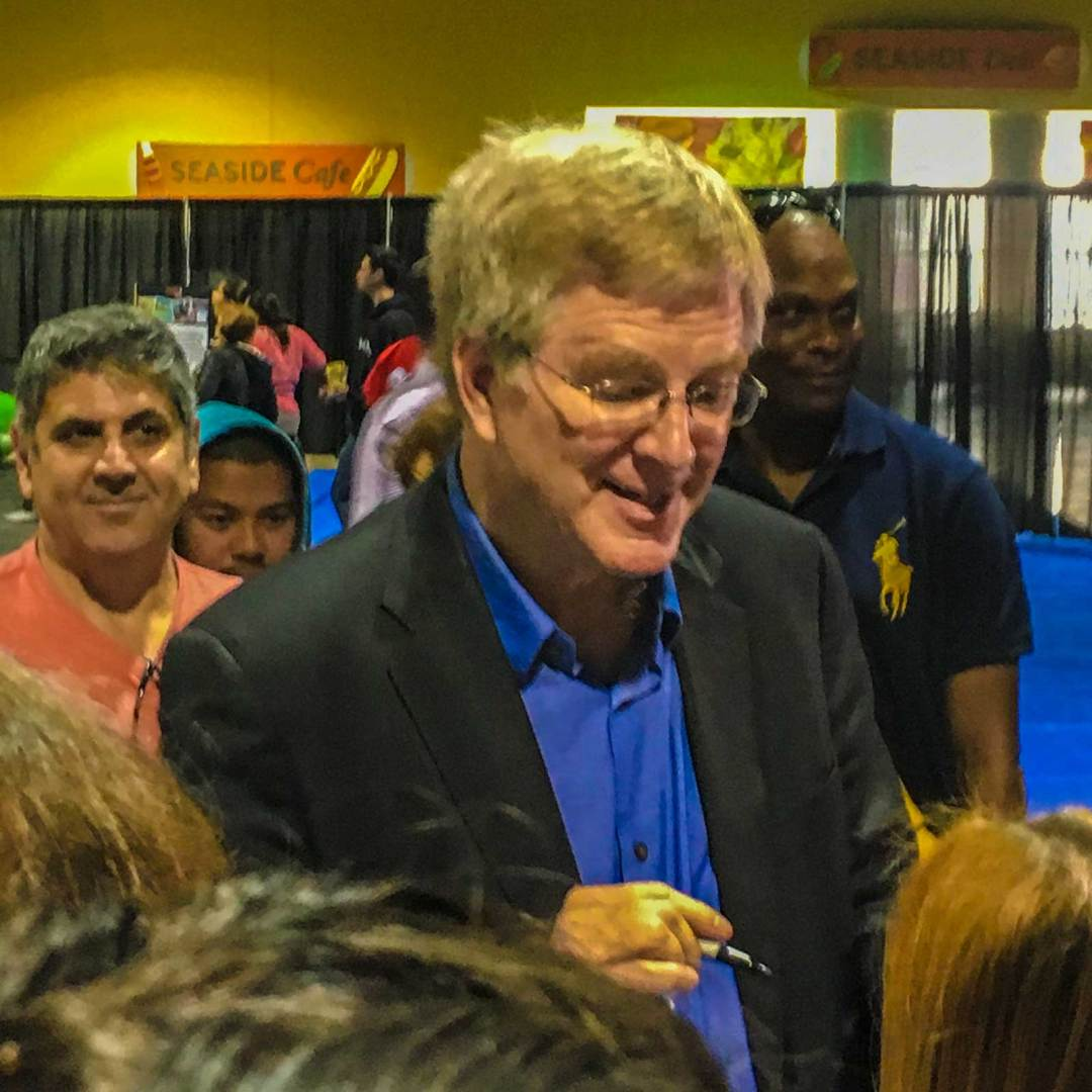 Rick Steves signing autographs