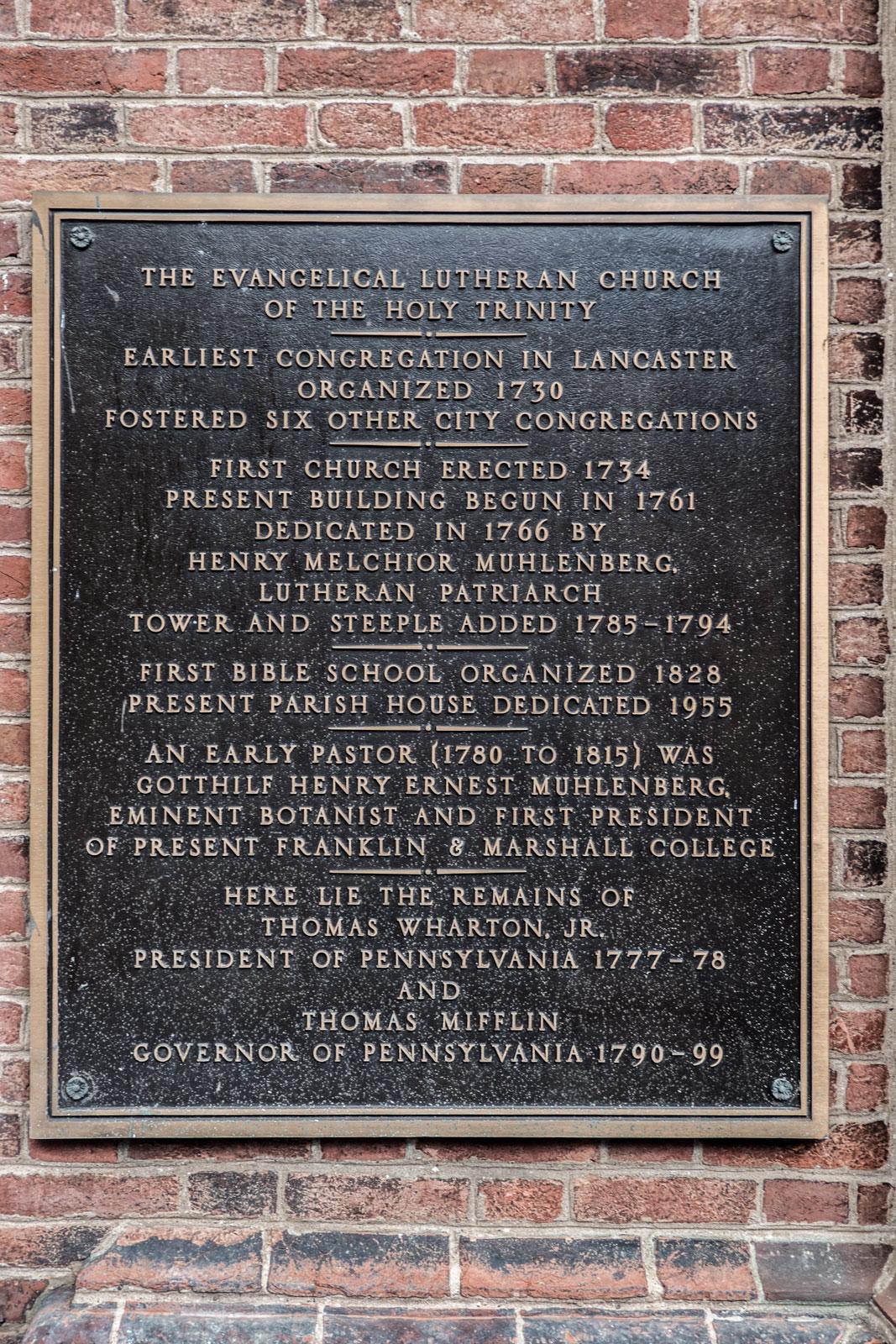 Holy Trinity Church Lancaster Pennsylvania