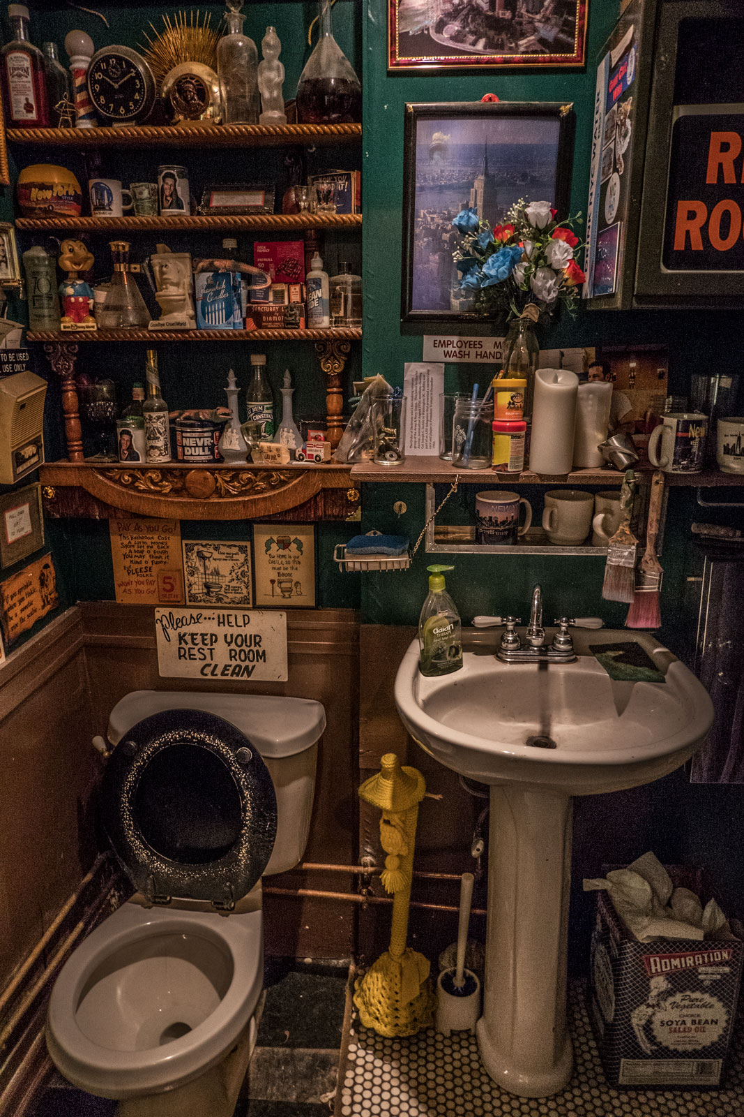 toilet at City Reliquary Museum Williamsburg Brooklyn NYC