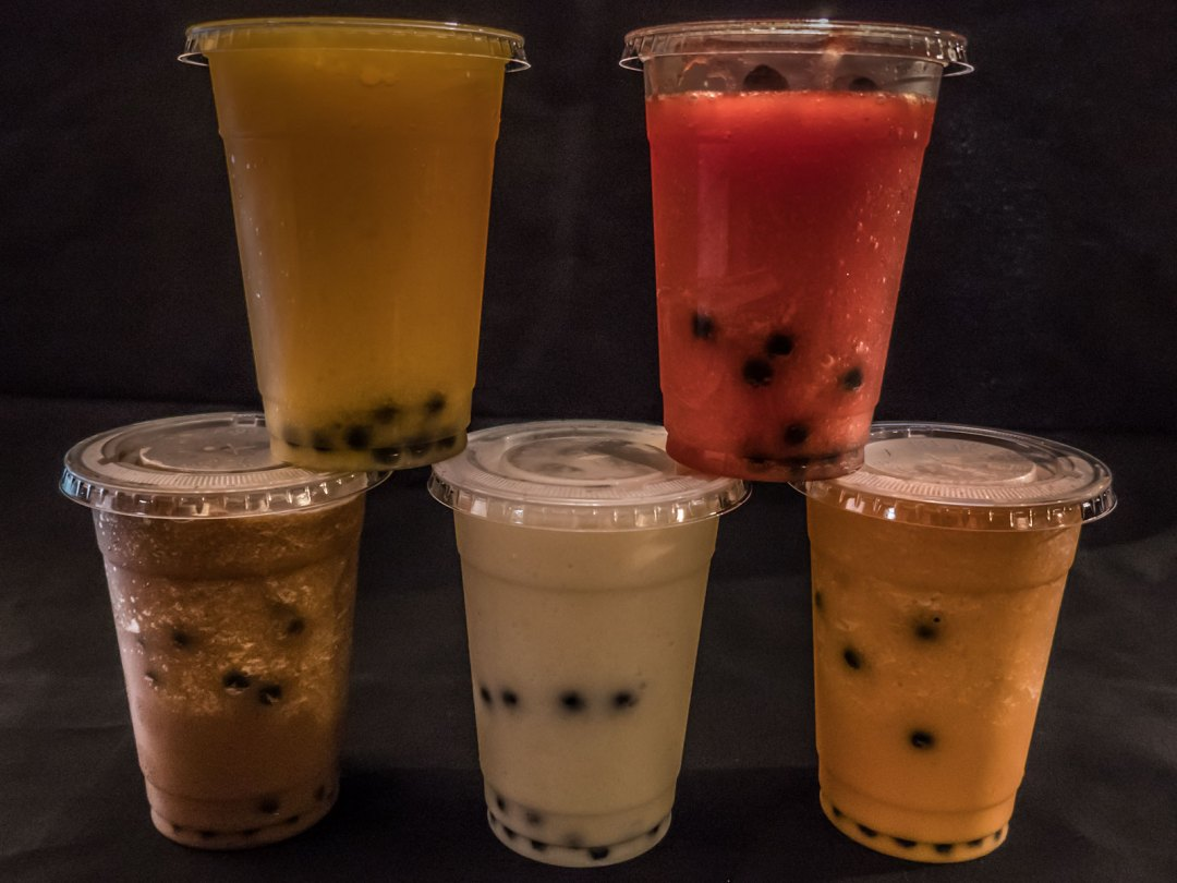 bubble tea smoothies at Carlisle Thai Cuisine thai iced tea coffee mango