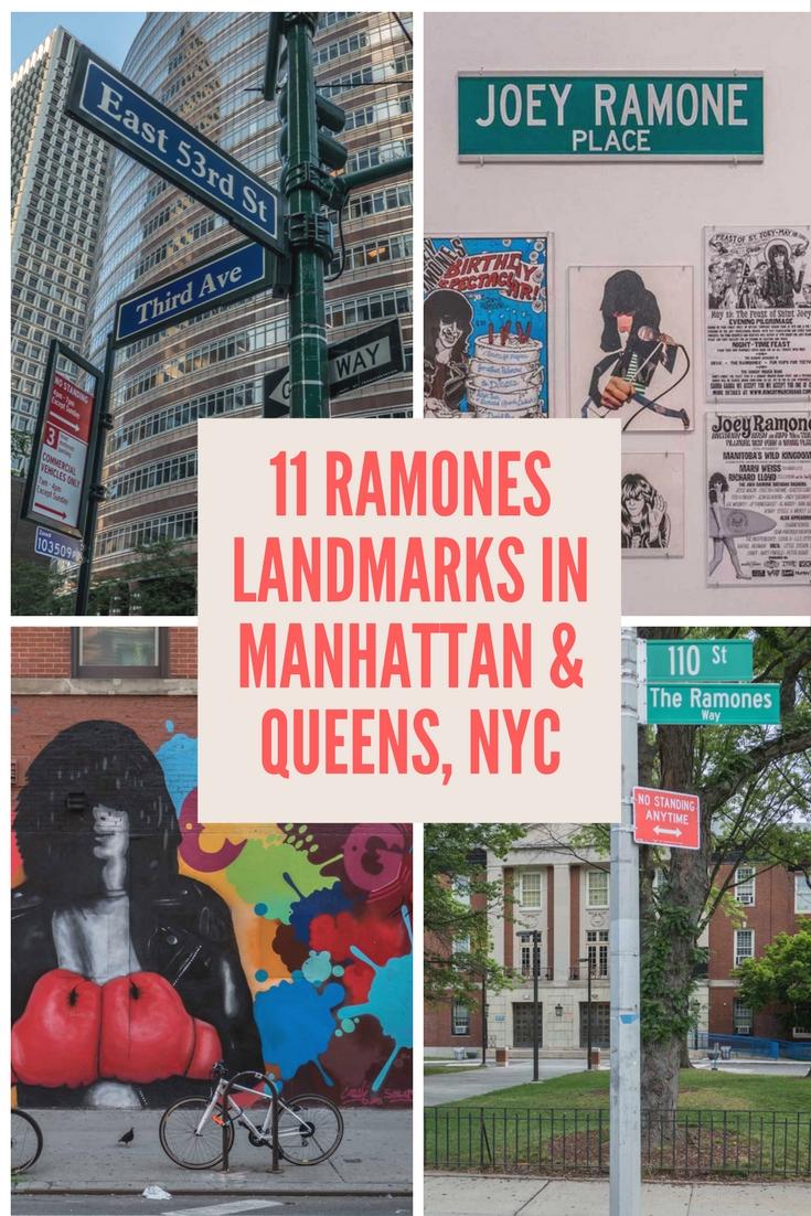 Pinterest 11 Ramones Landmarks in Manhattan & Queens NYC