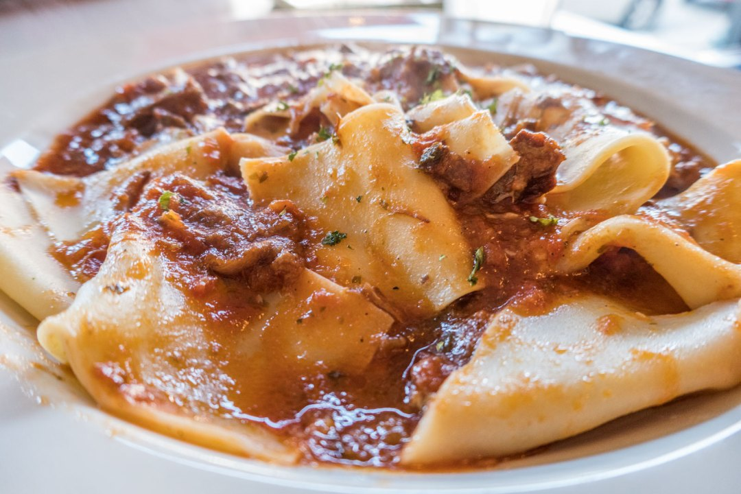 Pappardelle with Oxtail Ragu at Pastorante in Harrisburg Pennsylvania