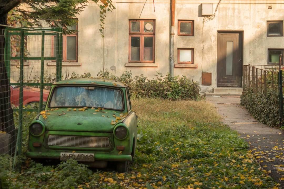 old Travant car in Bucharest Romania