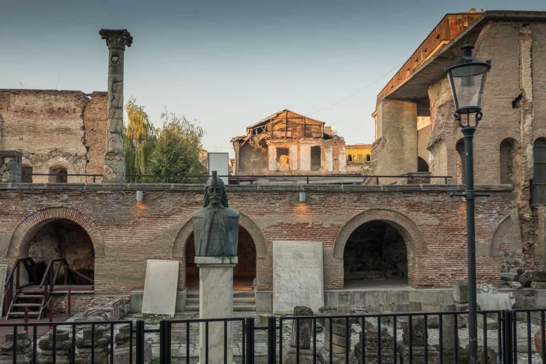 ruins of Vlad Dracula's citadel Bucharest Romania