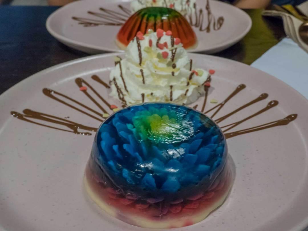3D flower jelly at Khatoon Cuisine Parramatta Sydney Australia