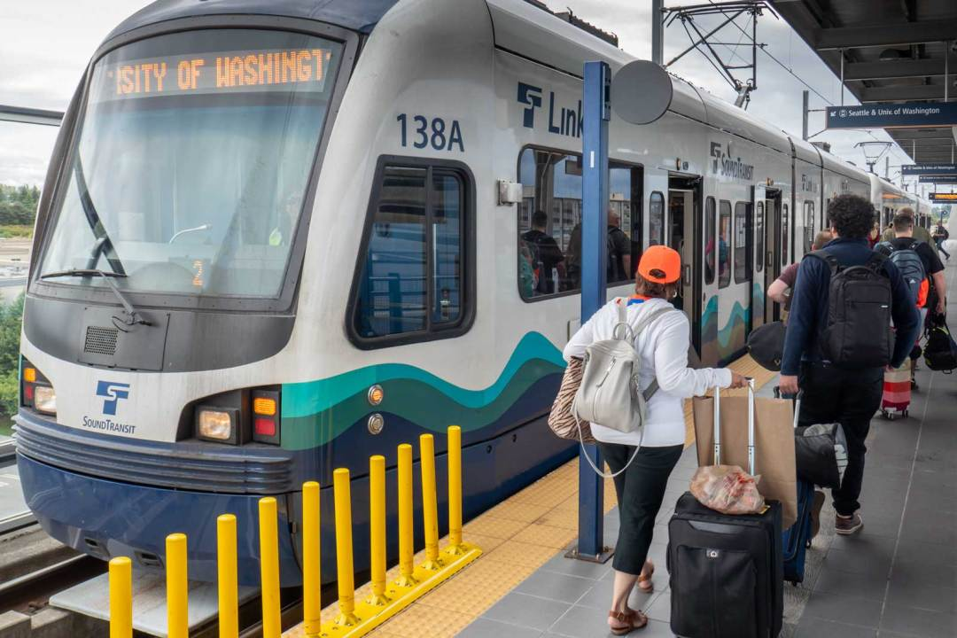 Sound Transit Light Rail at Seattle Tacoma International Airport