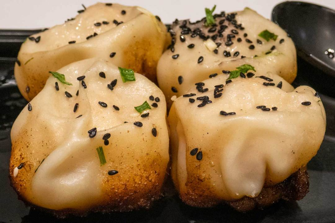 shrimp dumplings from Yang's Dumplings in Shanghai