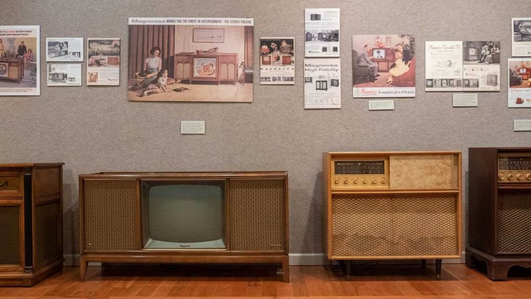 Magnavox exhibit at Greeneville Green County Museum Tennessee