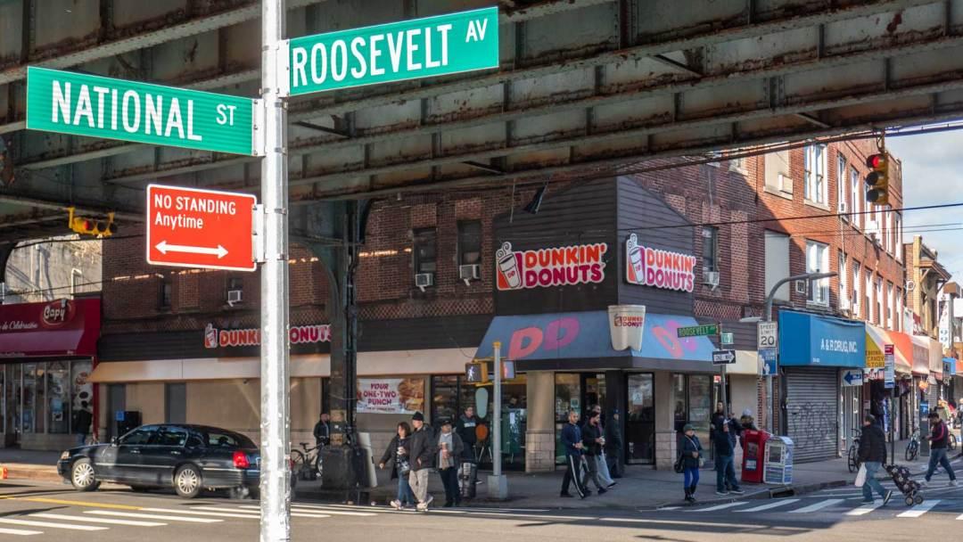 National & Roosevelt Avenue in Queens