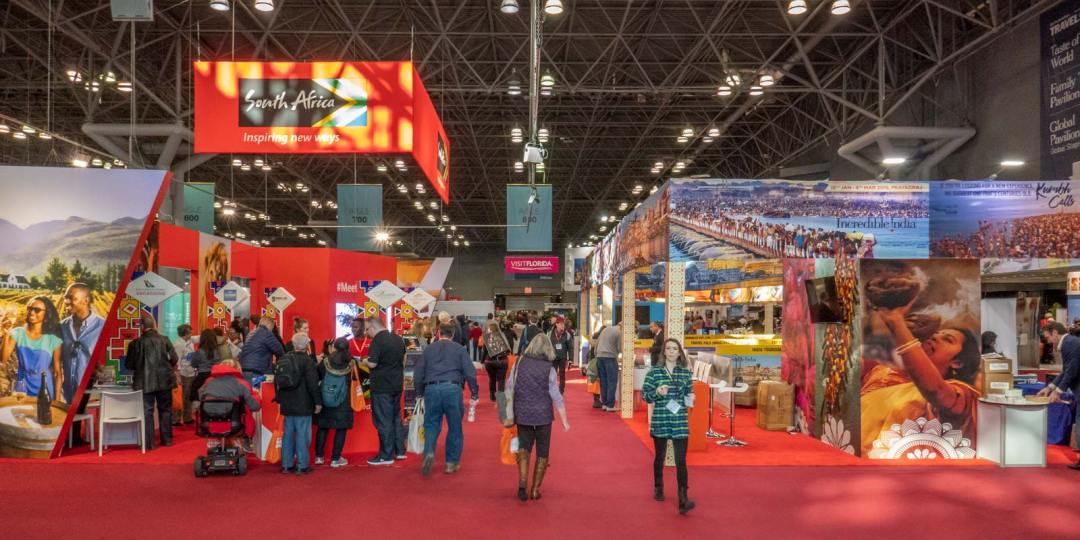 main floor at the 2019 New York Times Travel Show