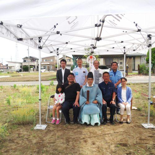 工場の移転新築、デザインの地鎮祭|愛知県江南市の市街化調整区域