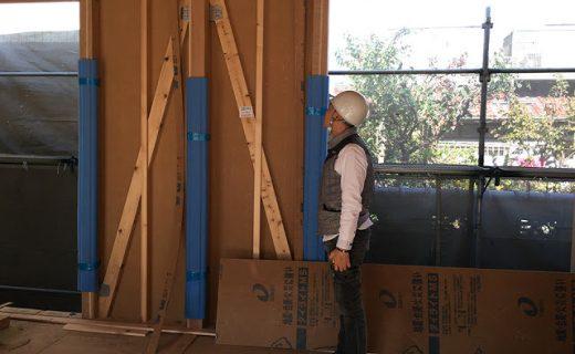 建て替え設計した老後を夫婦二人で楽しむバリアフリー注文住宅の構造用金物検査