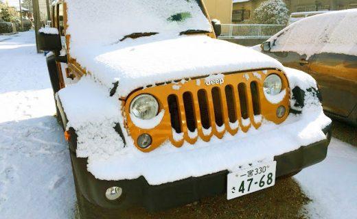JEEP Wrangler Unlimited Sport雪化粧