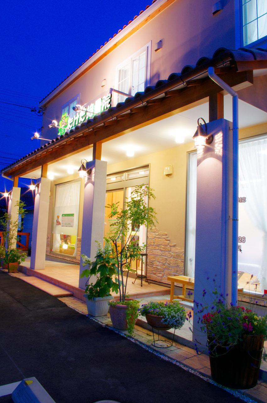 店舗付き住宅たけだ接骨院のアプローチ 新築設計、デザイン、開業支援