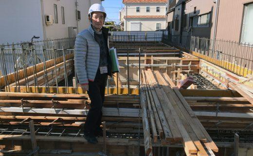 デザイナーズワンルーム賃貸マンションの新築設計・デザイン|基礎配筋検査