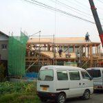 岐阜県岐阜市の店舗併用住宅美容室WIT 祝上棟 新築設計、店舗デザイン