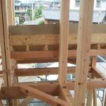 岐阜県岐阜市で店舗併用住宅の新築設計、店舗デザインをさせていただいた美容室WITの構造用金物検査