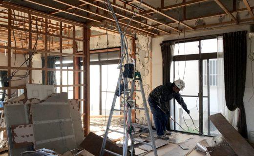 空き家を賃貸住宅へリノベーション設計・デザインの解体工事