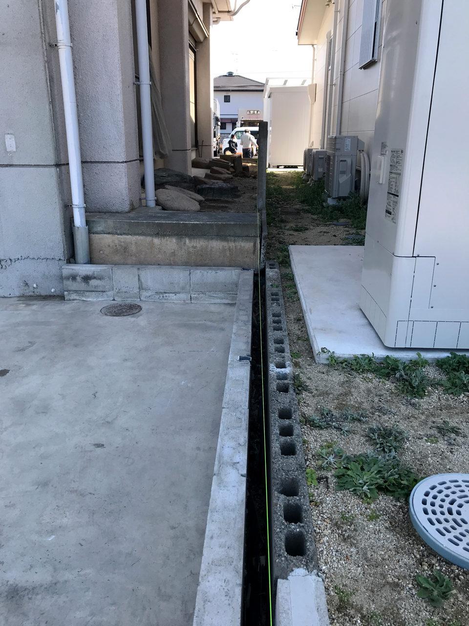 空き家を賃貸住宅へリノベーションした建物の外構解体工事