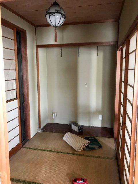 賃貸マンションのリノベーション改装設計、デザインの既設和室