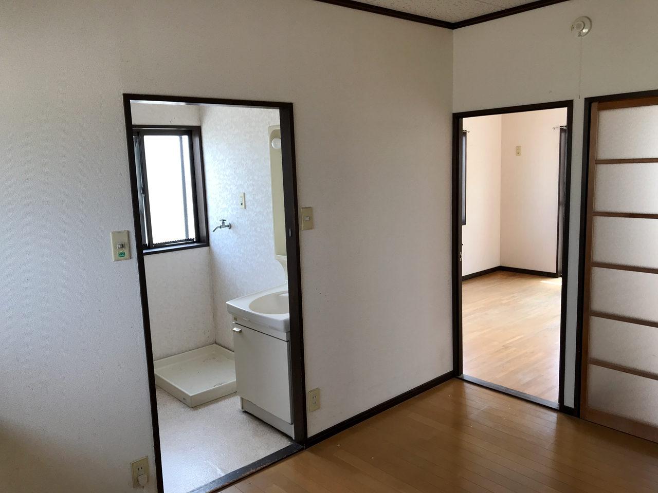 空き家を賃貸マンションへリノベーション改装設計、デザインの既設2階LDK