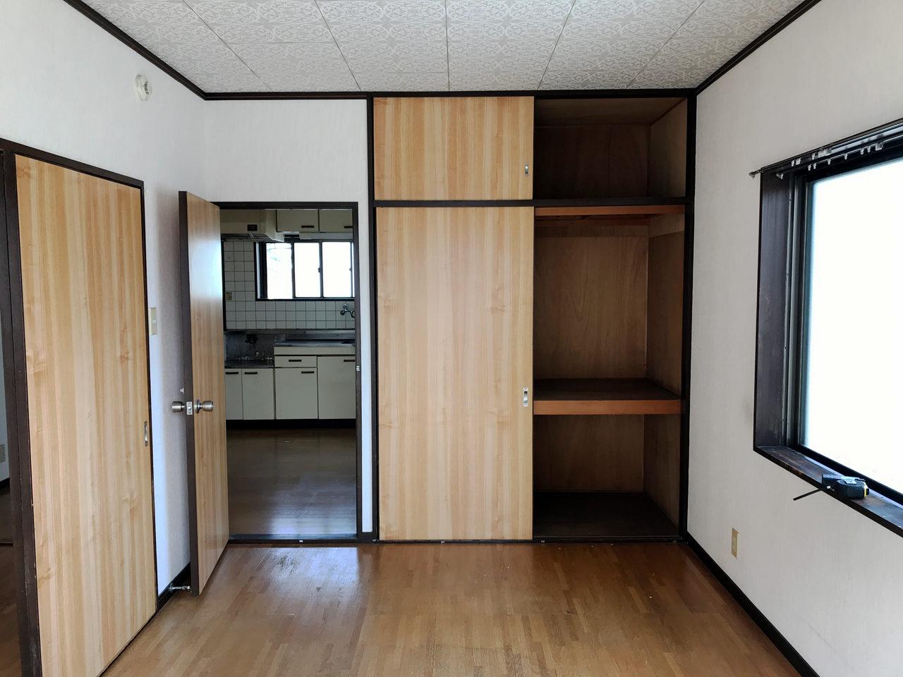 空き家を賃貸住宅へリノベーション改装工事の既設二階個室01