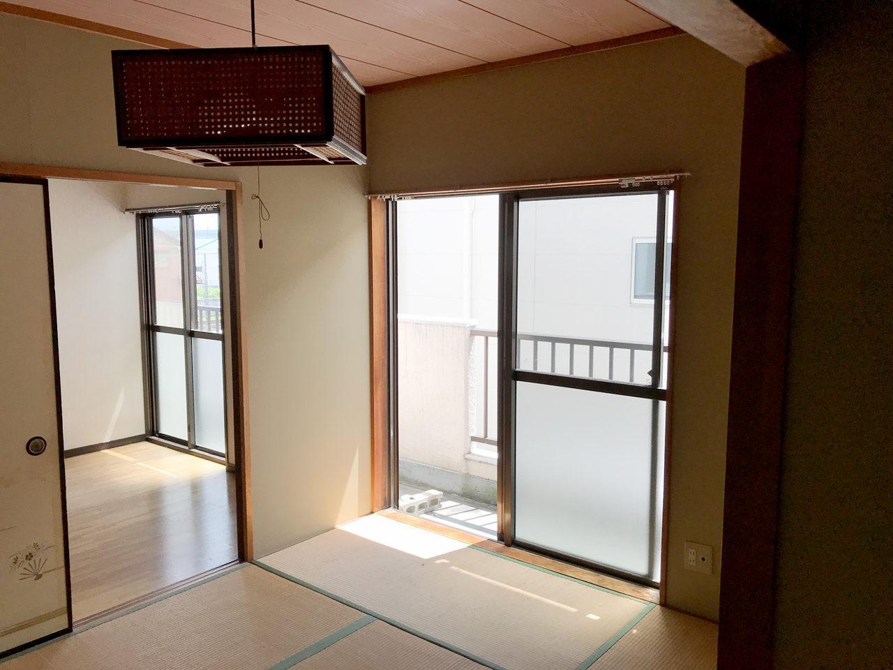 賃貸住宅のリノベーション前の和室