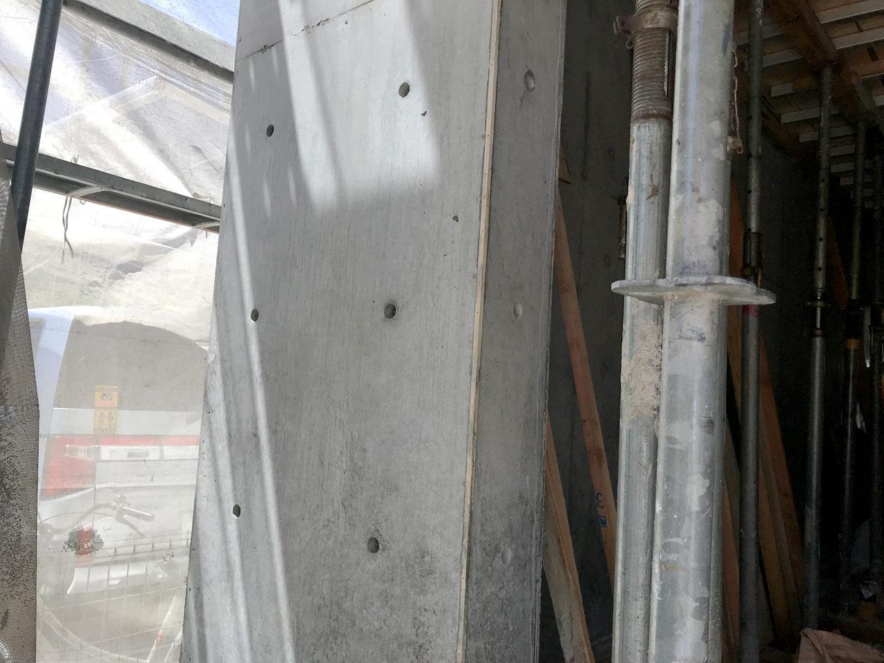 新築設計をした鉄筋コンクリート打ち放しワンルームデザイナーズ賃貸マンションの型枠解体