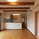 設計した店舗併用住宅の住宅LDK