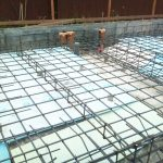 新築設計した店舗併用住宅、接骨院の基礎配筋検査
