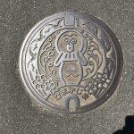 日間賀島のかわいいたこマンホール