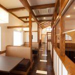 和食店のテーブル席の店舗デザイン、設計|一宮市