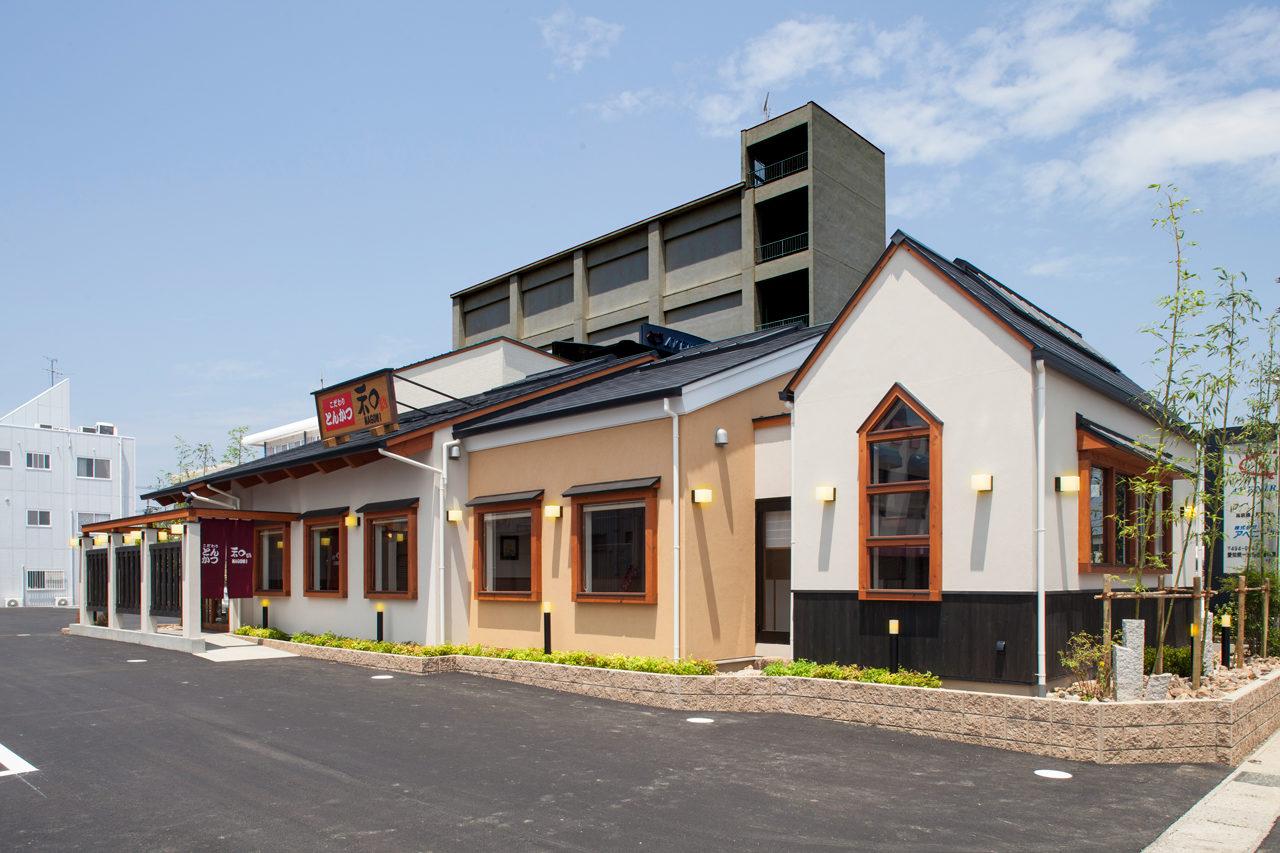 こだわりとんかつ和の店舗デザイン・新築設計(事務所付き)|愛知県一宮市