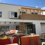 設計した店舗(整骨院、エステサロン)付き住宅の足場解体