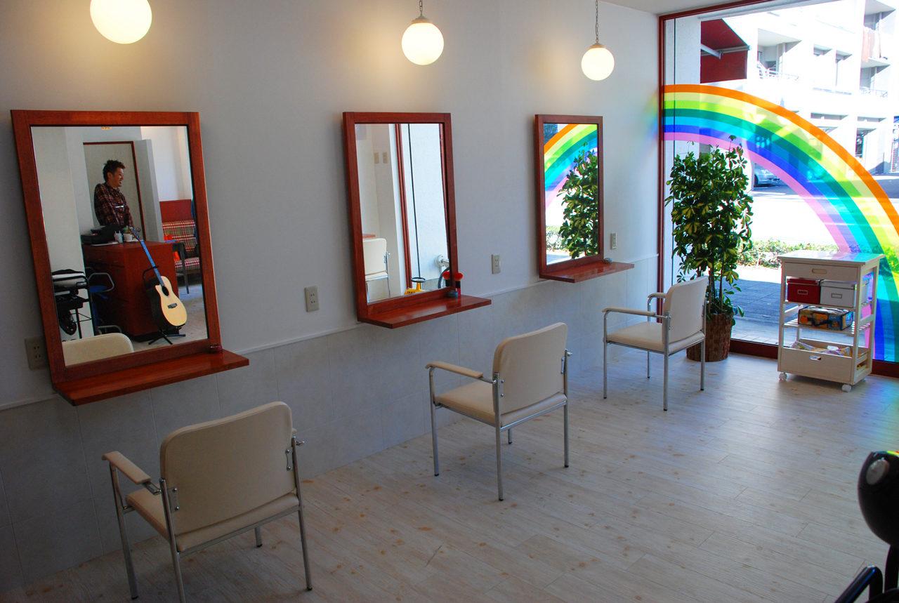 一宮市の居抜き美容院、ヘアサロンの店舗改装デザイン、設計