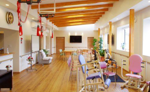 リハビリデイサービスの食堂及び機能訓練室の新築設計、デザイン