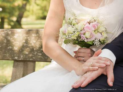 Hochzeitsfotograf - Hand mit Eheringe