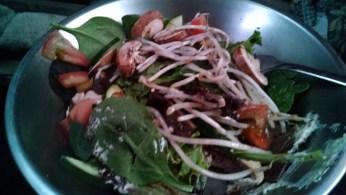 salad to follow