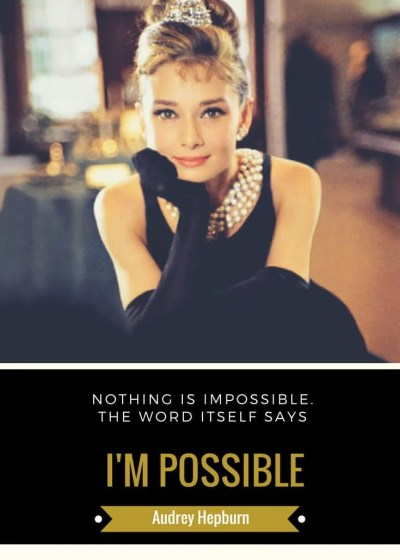 Motivation Monday with Audrey Hepburn: Changing Perspective