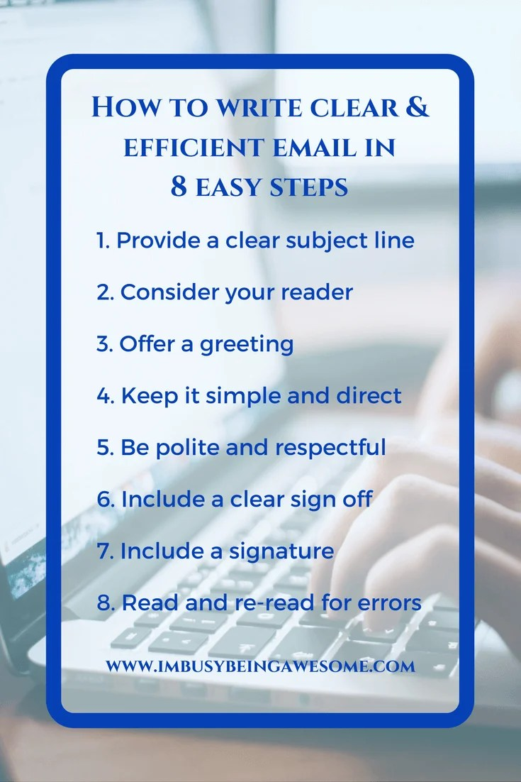 How to write clear efficient emails in 8 easy steps maximize how to write clear and efficient emails in 8 easy steps kristyandbryce Images